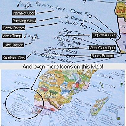el mapa mundi del surf